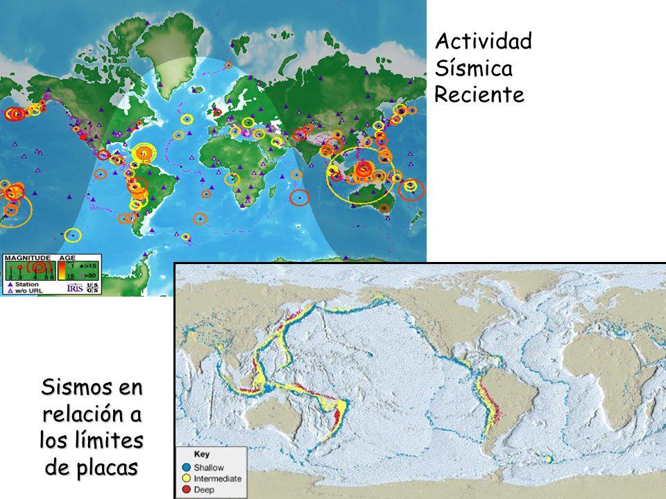 Sismos en relación a los límites de placas