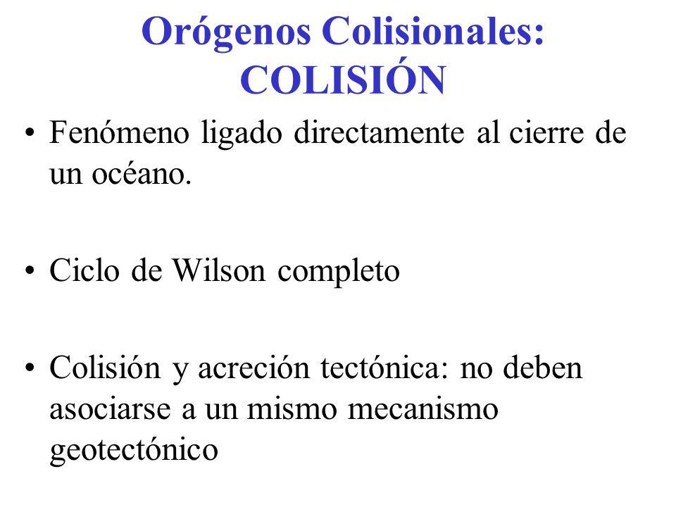 Orógenos Colisionales: COLISIÓN
