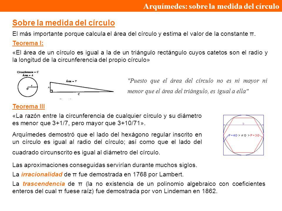 Arquímedes: sobre la medida del círculo