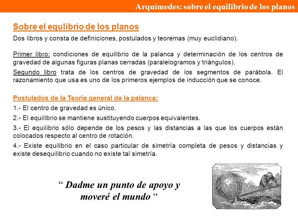 Arquímedes: sobre el equilibrio de los planos
