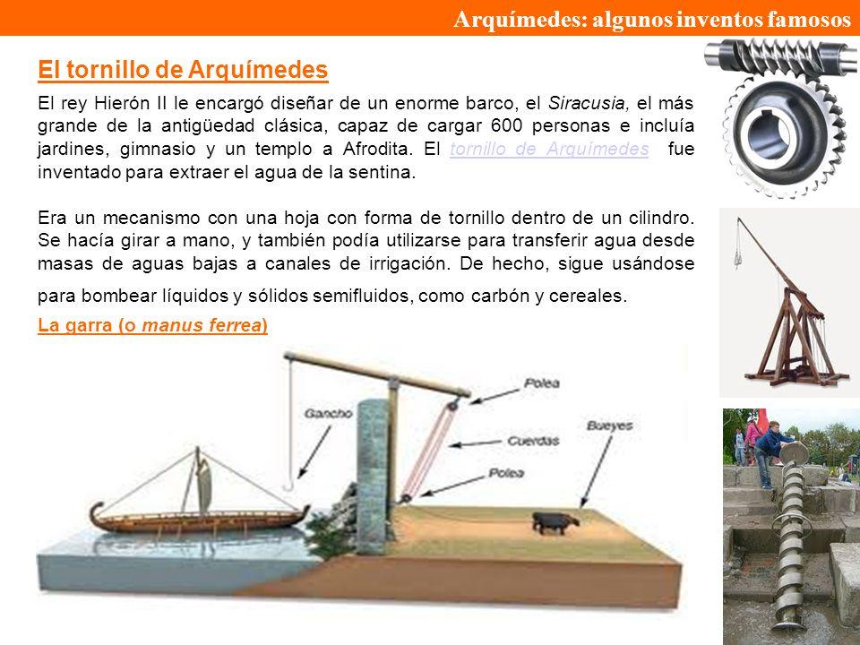 Arquímedes: algunos inventos famosos