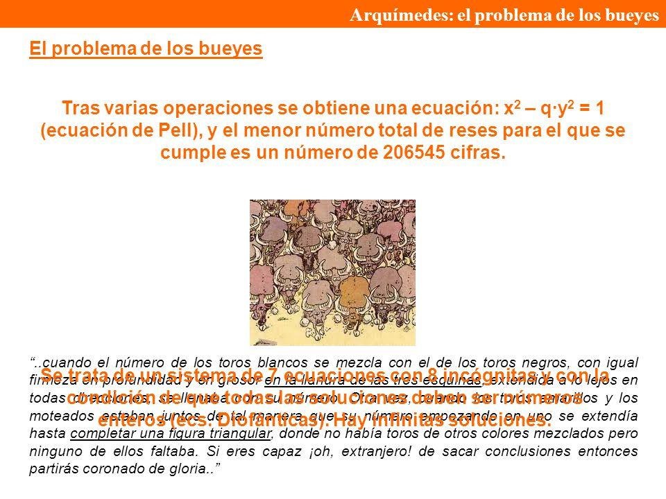 Arquímedes: el problema de los bueyes