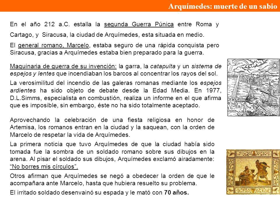 Arquímedes: muerte de un sabio