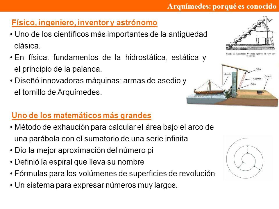 Arquímedes: porqué es conocido
