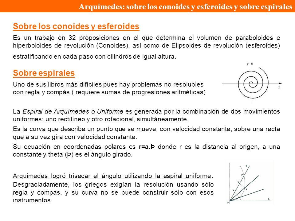 Arquímedes: sobre los conoides y esferoides y sobre espirales