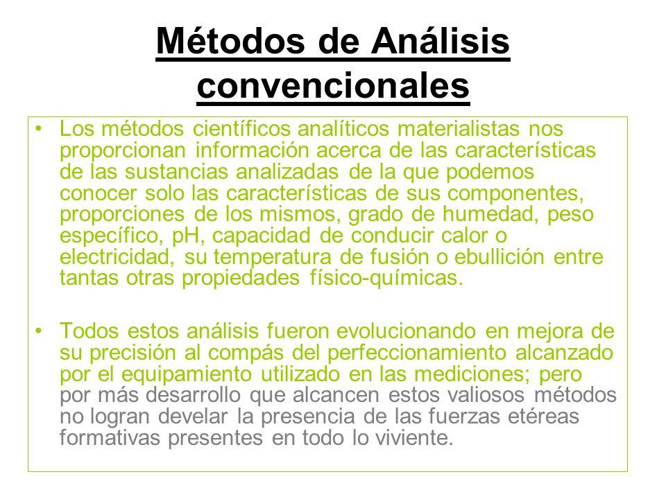 Métodos de Análisis convencionales