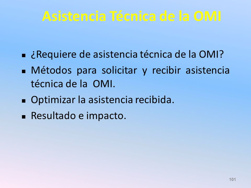 Asistencia Técnica de la OMI