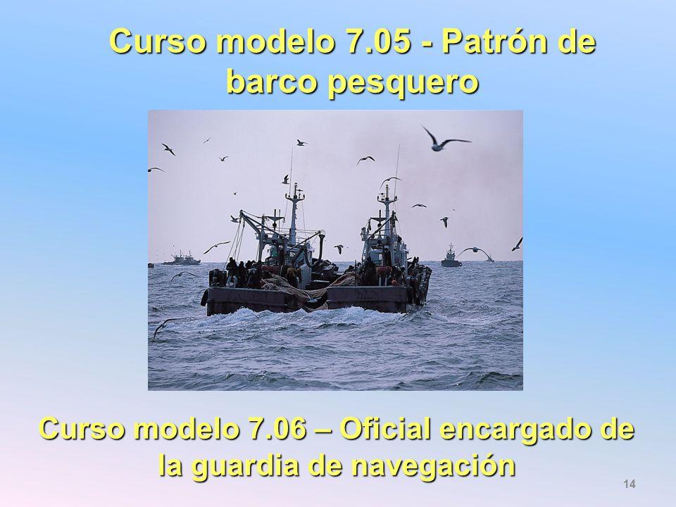 Curso modelo 7.05 - Patrón de barco pesquero