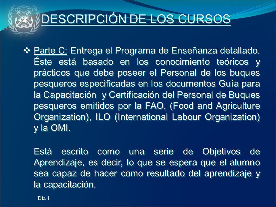 DESCRIPCIÓN DE LOS CURSOS