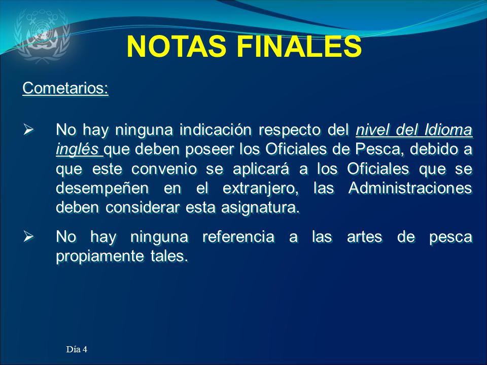 NOTAS FINALES Cometarios: