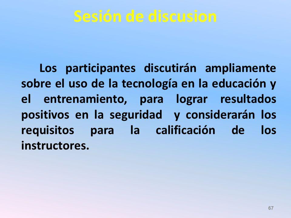 Sesión de discusion