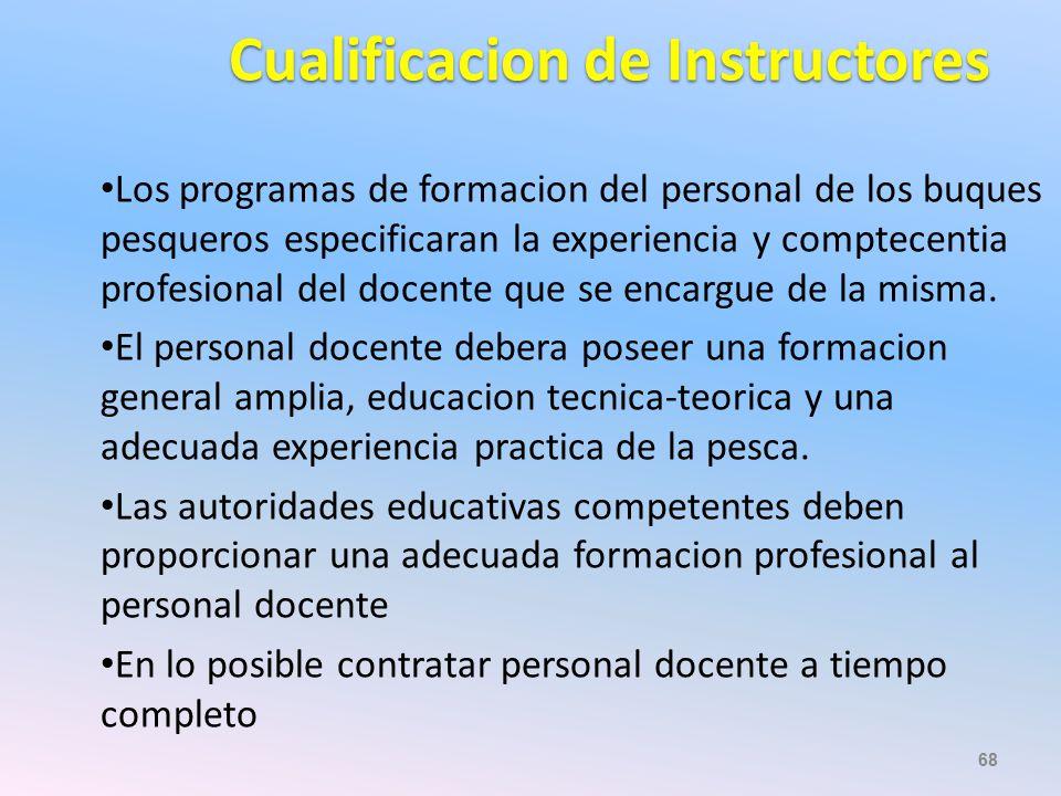 Cualificacion de Instructores