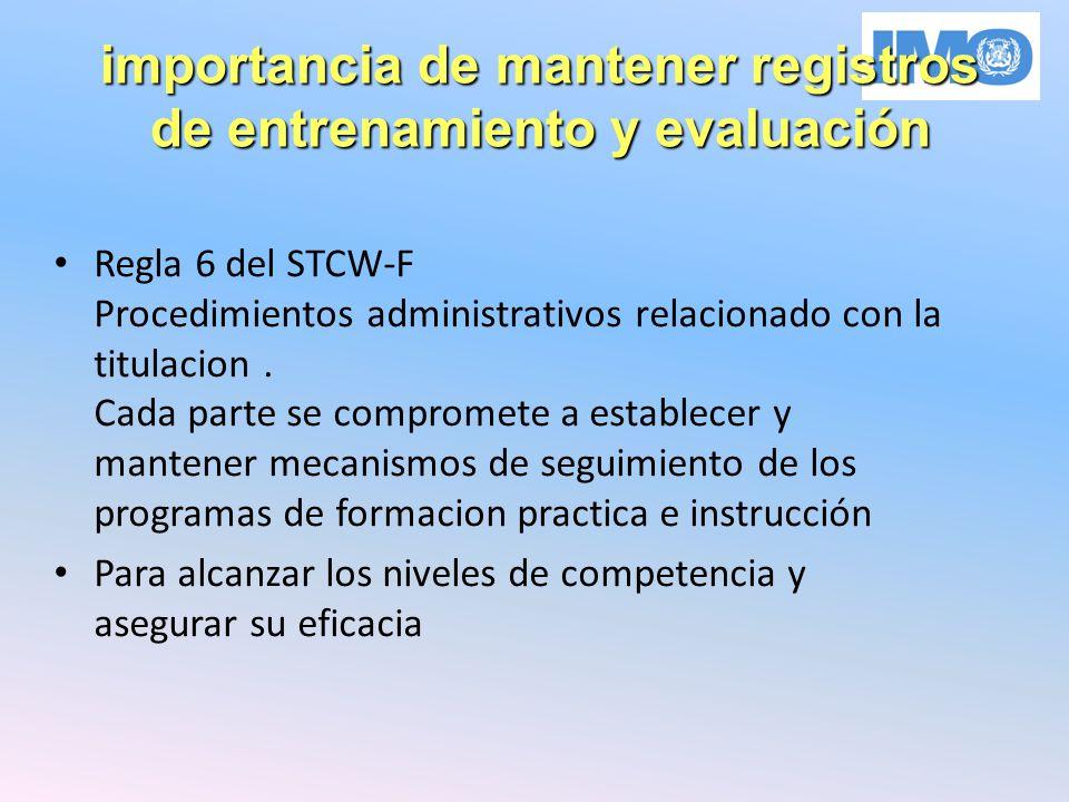 importancia de mantener registros de entrenamiento y evaluación