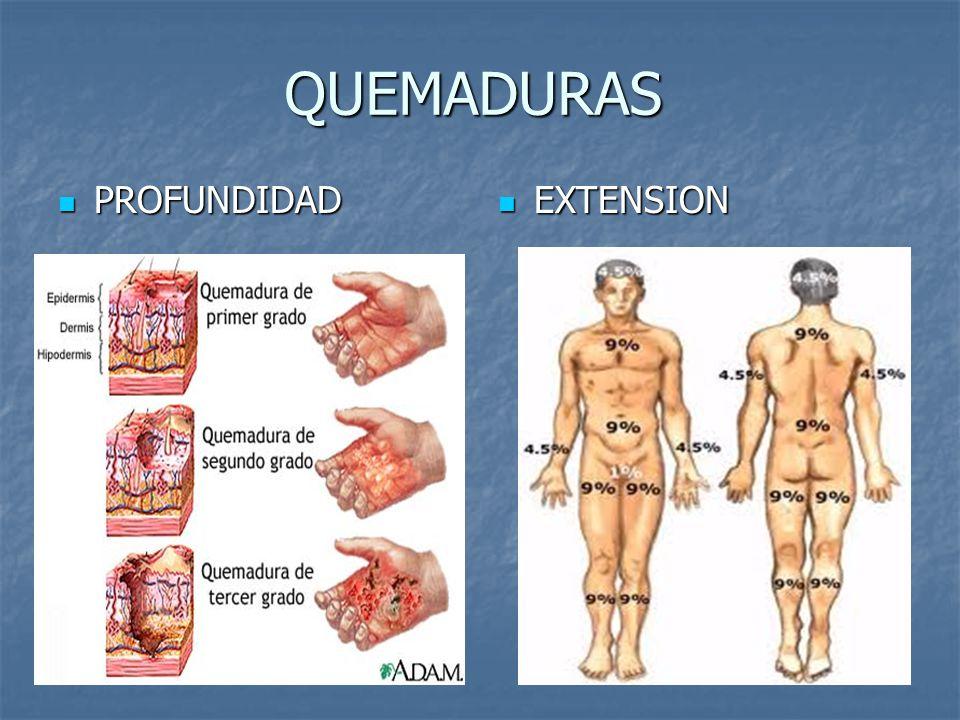 QUEMADURAS PROFUNDIDAD EXTENSION