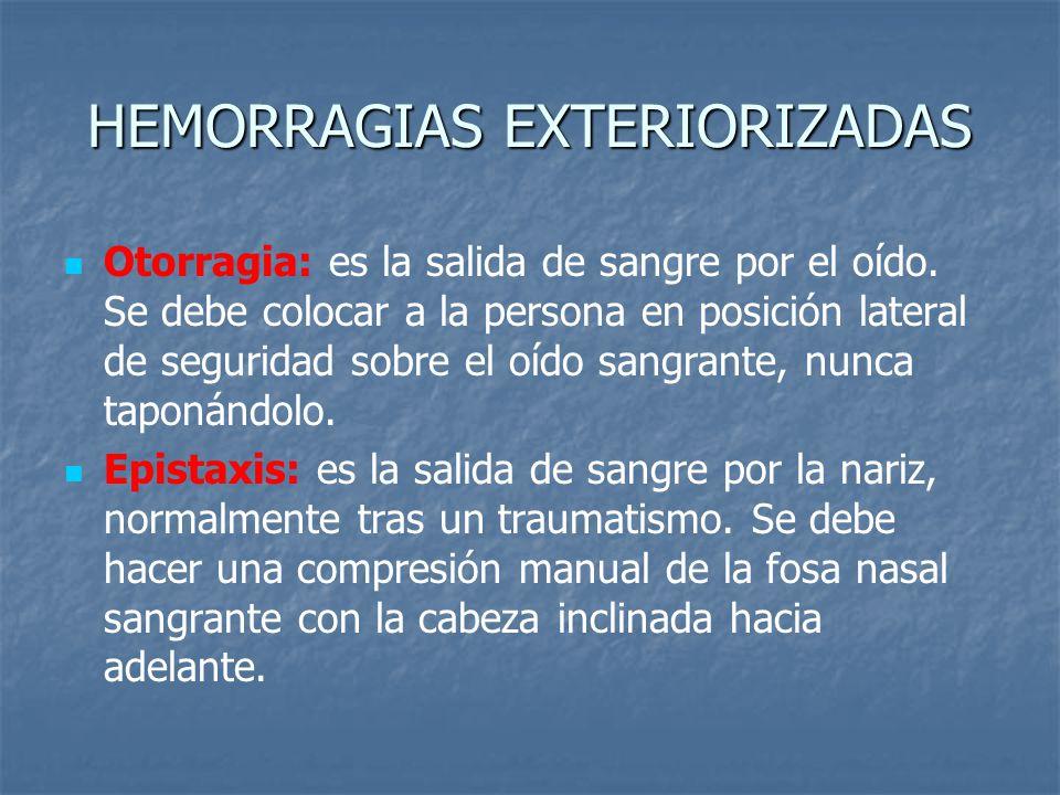 HEMORRAGIAS EXTERIORIZADAS