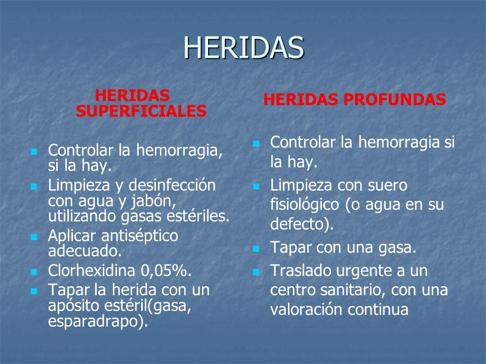 HERIDAS SUPERFICIALES