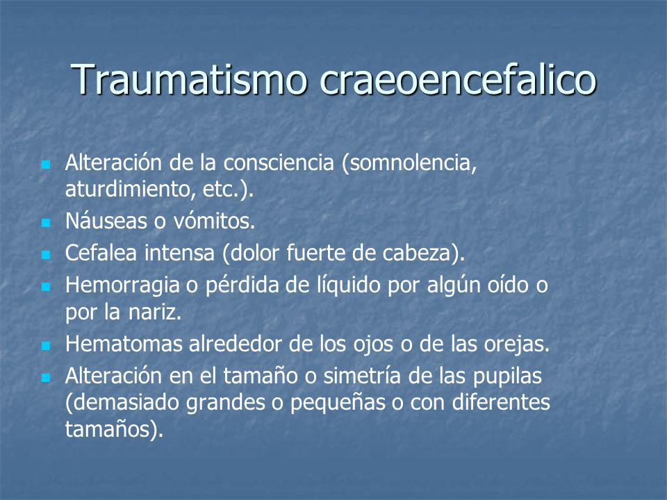 Traumatismo craeoencefalico