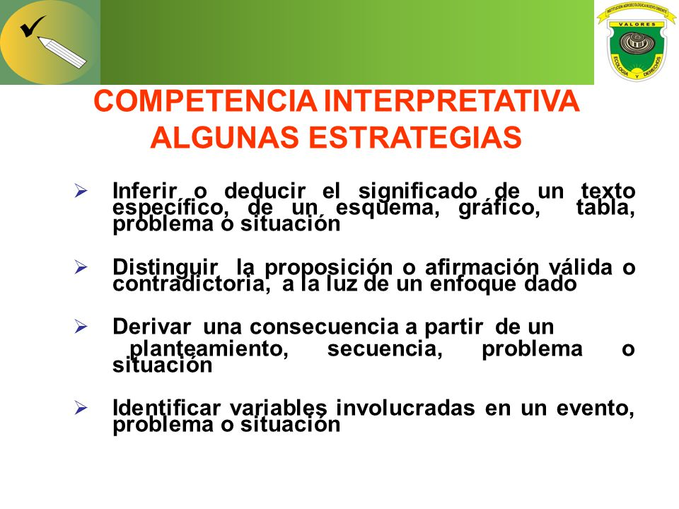 COMPETENCIA INTERPRETATIVA ALGUNAS ESTRATEGIAS
