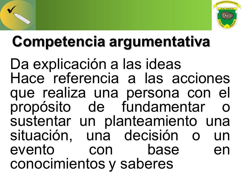 Competencia argumentativa