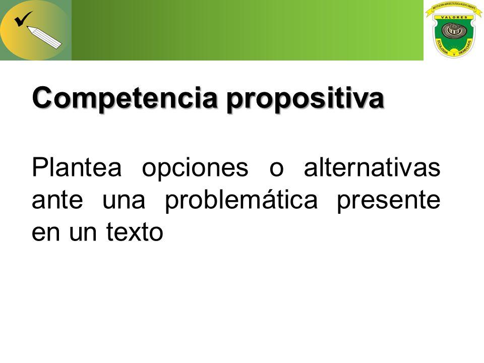 Competencia propositiva