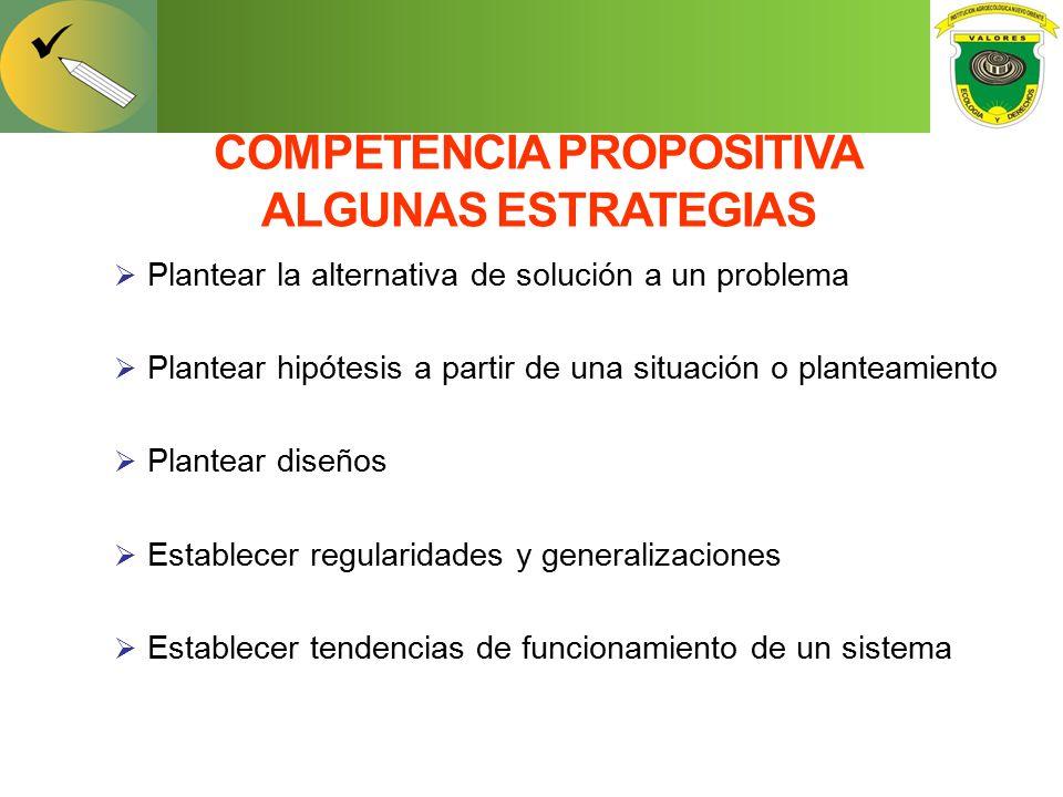 COMPETENCIA PROPOSITIVA ALGUNAS ESTRATEGIAS