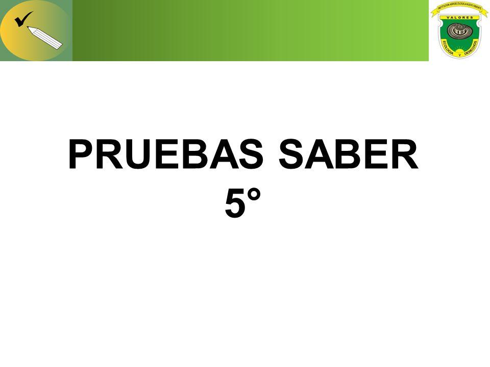 PRUEBAS SABER 5°