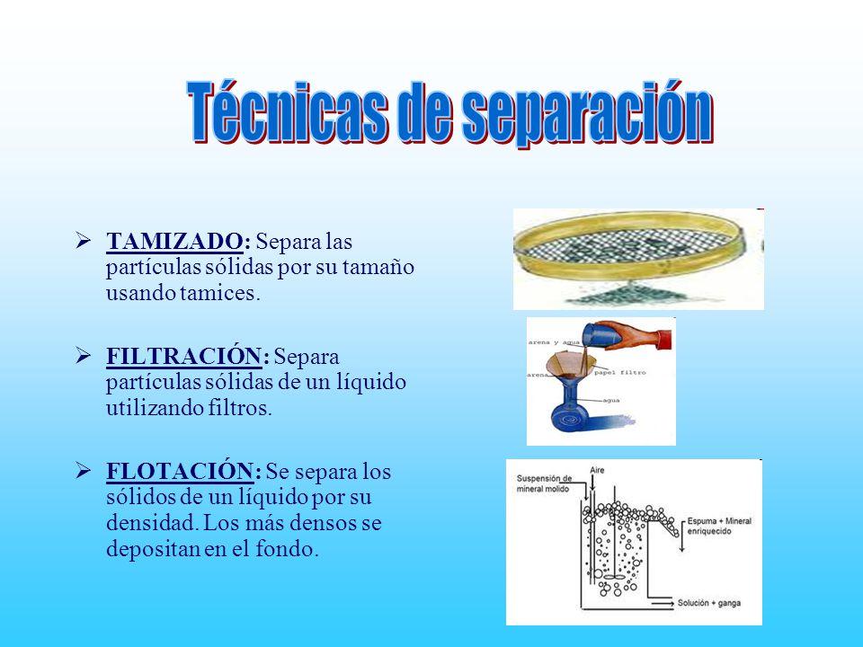 Técnicas de separación