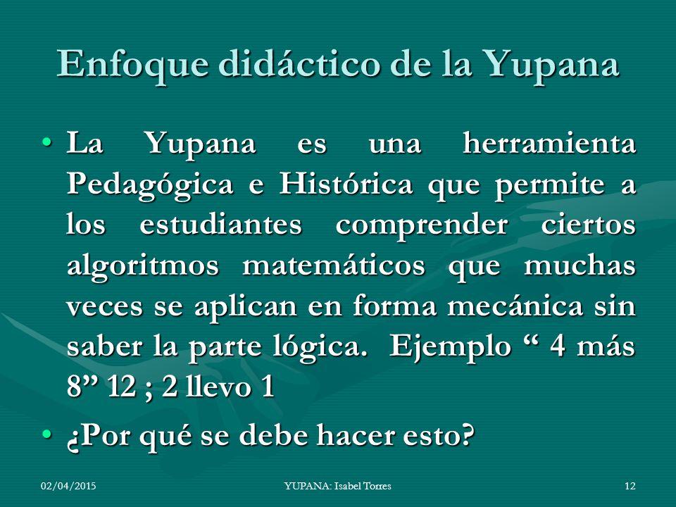 Enfoque didáctico de la Yupana