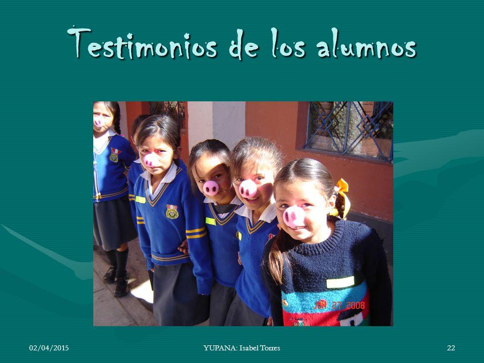 Testimonios de los alumnos
