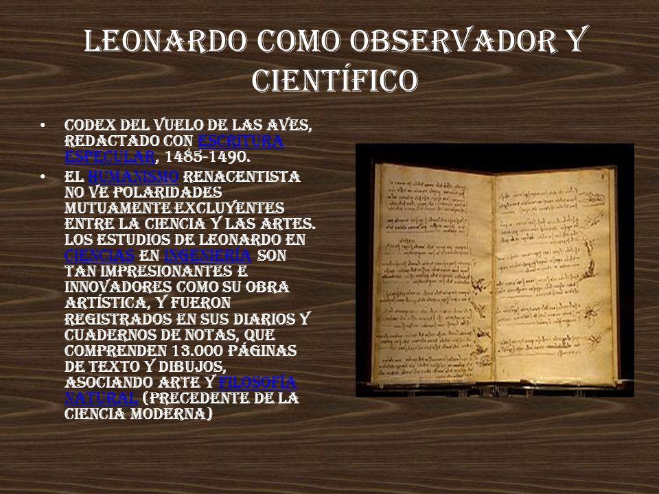 Leonardo como observador y científico