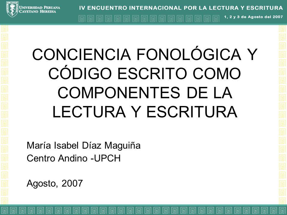 María Isabel Díaz Maguiña Centro Andino -UPCH Agosto, 2007