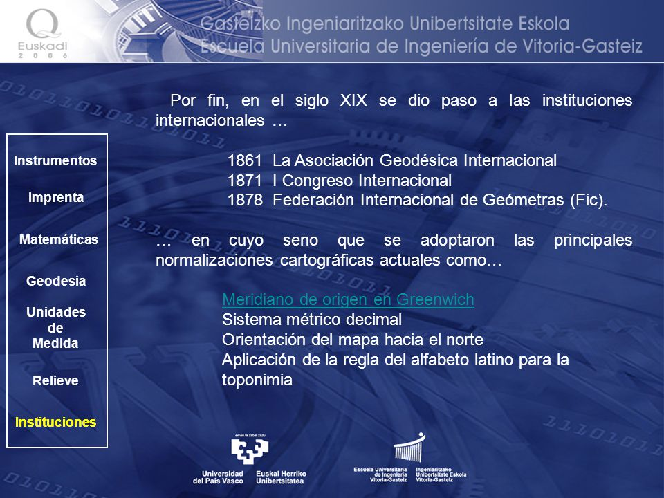 1861 La Asociación Geodésica Internacional