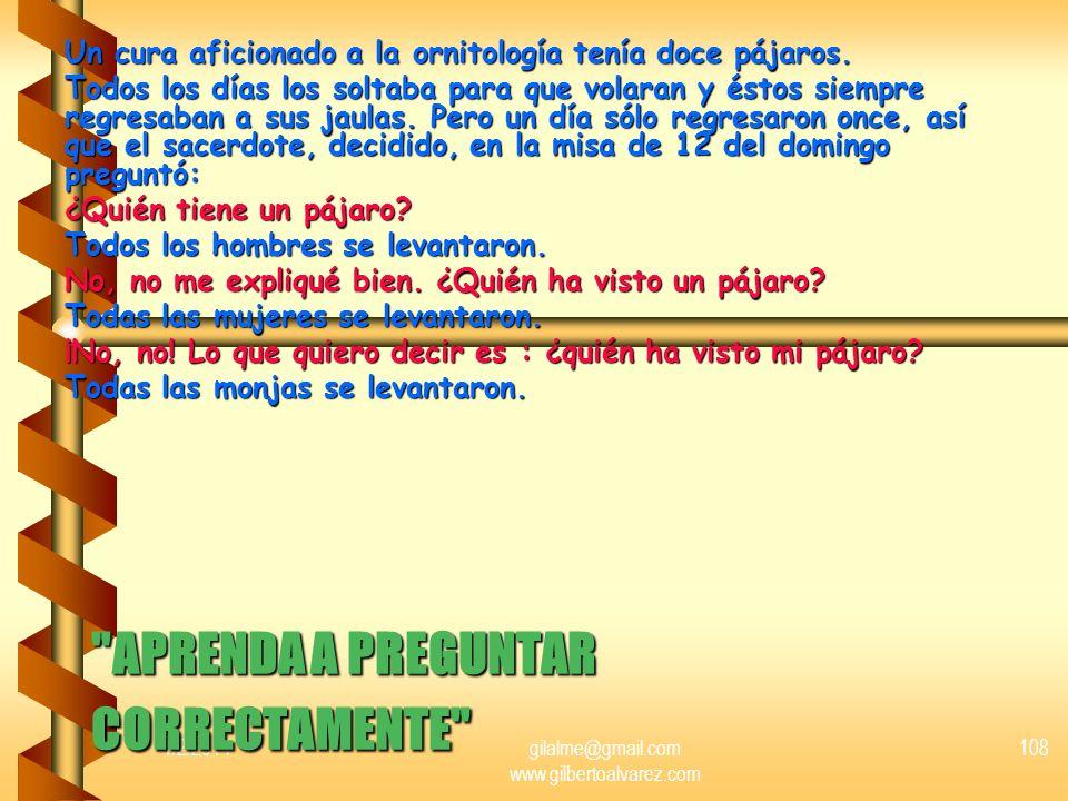 APRENDA A PREGUNTAR CORRECTAMENTE