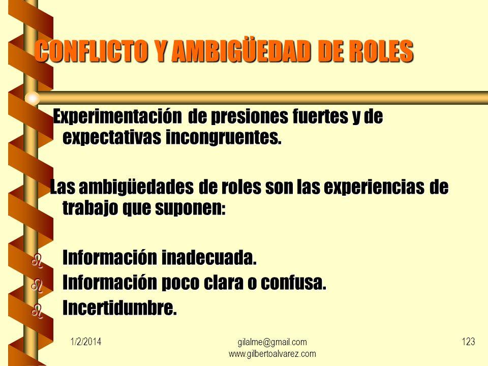 CONFLICTO Y AMBIGÜEDAD DE ROLES