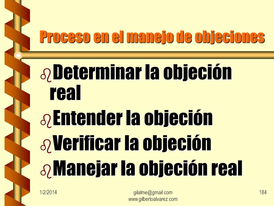 Proceso en el manejo de objeciones