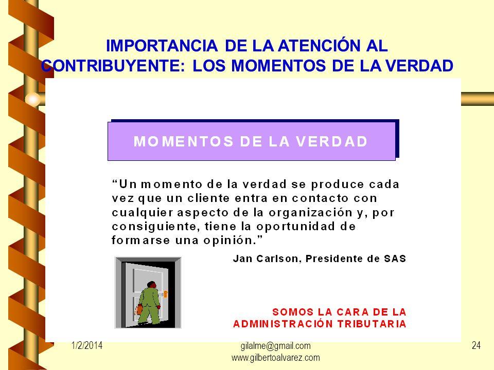 IMPORTANCIA DE LA ATENCIÓN AL CONTRIBUYENTE: LOS MOMENTOS DE LA VERDAD