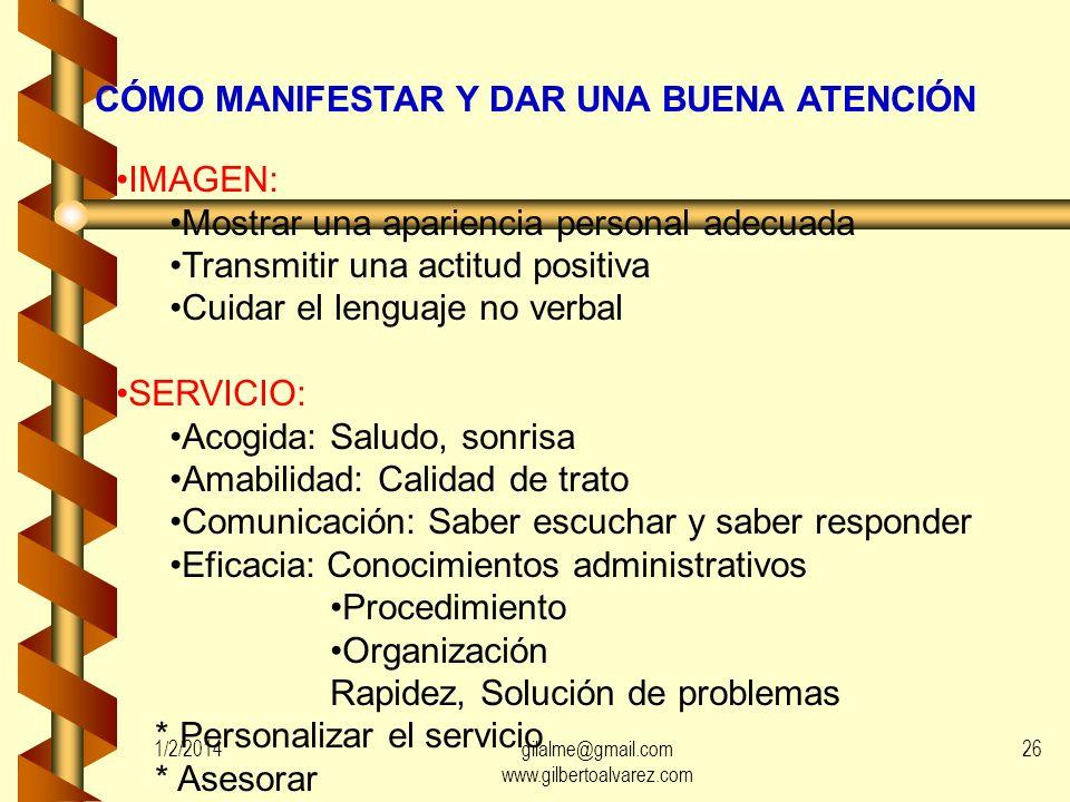 CÓMO MANIFESTAR Y DAR UNA BUENA ATENCIÓN