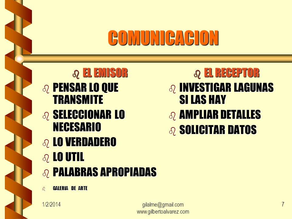 gilalme@gmail.com www.gilbertoalvarez.com