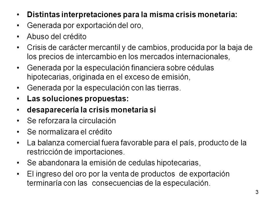 Distintas interpretaciones para la misma crisis monetaria: