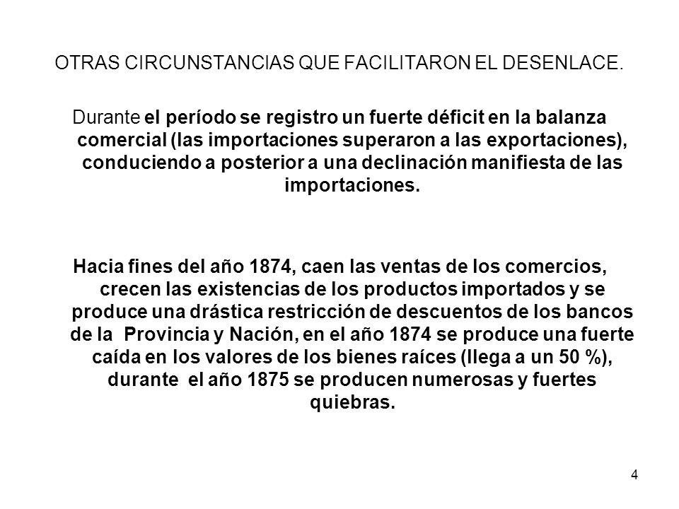 OTRAS CIRCUNSTANCIAS QUE FACILITARON EL DESENLACE.