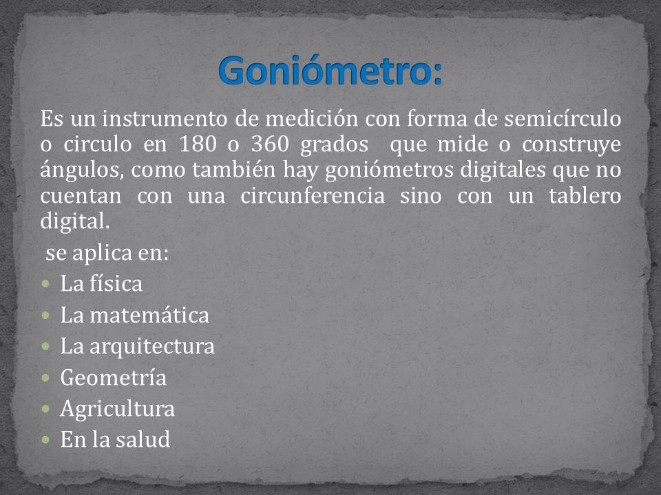 Goniómetro: