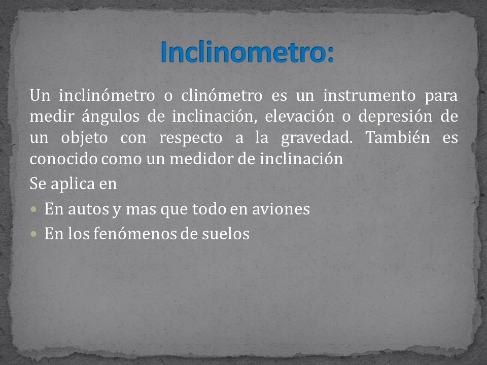 Inclinometro: