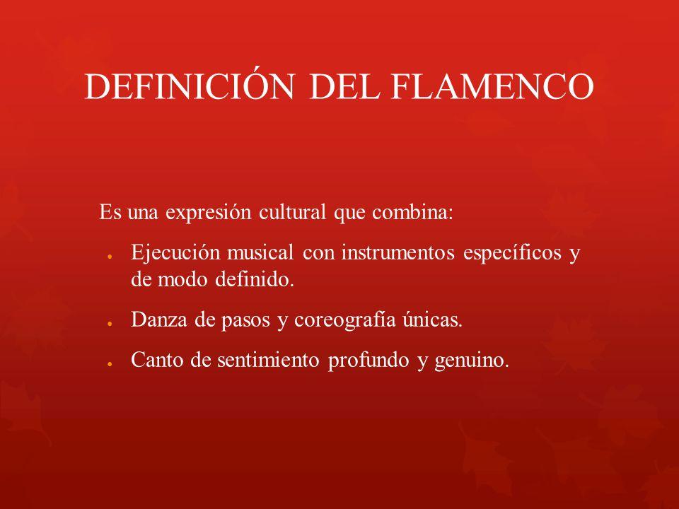 DEFINICIÓN DEL FLAMENCO