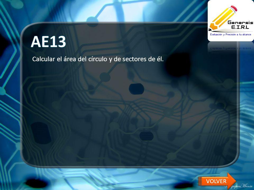 AE13 Calcular el área del círculo y de sectores de él. VOLVER