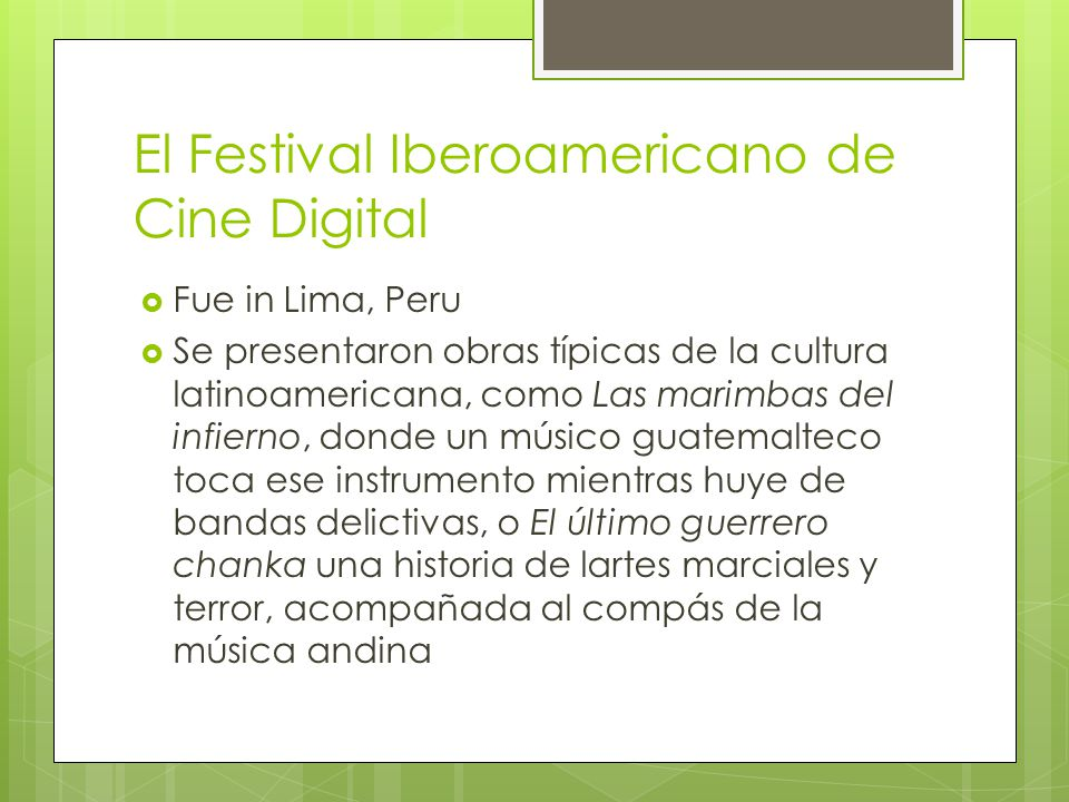 El Festival Iberoamericano de Cine Digital