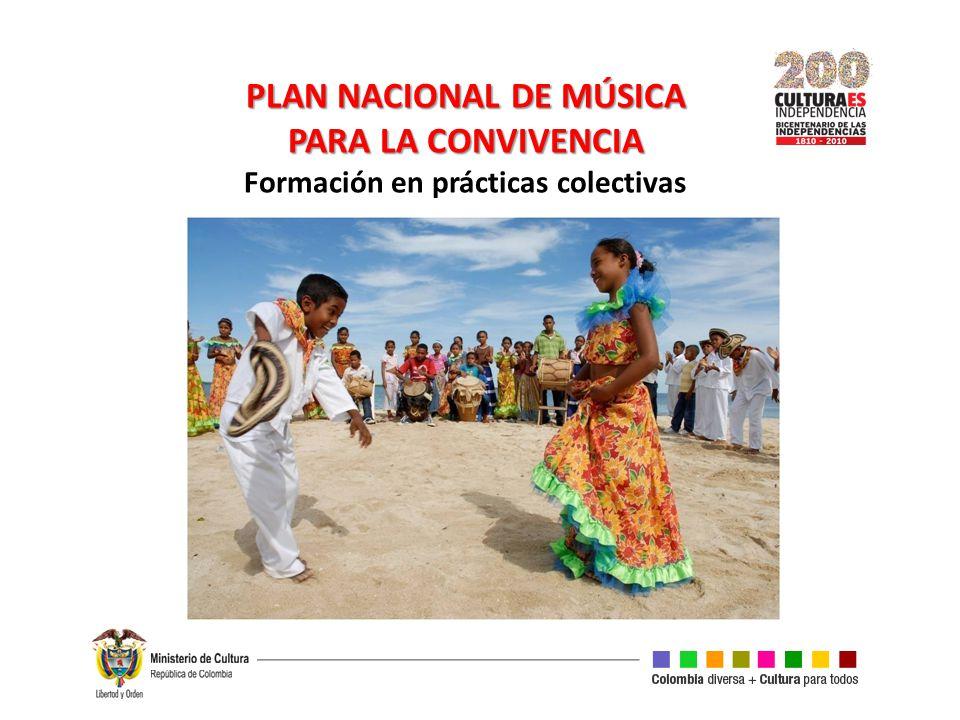 PLAN NACIONAL DE MÚSICA Formación en prácticas colectivas