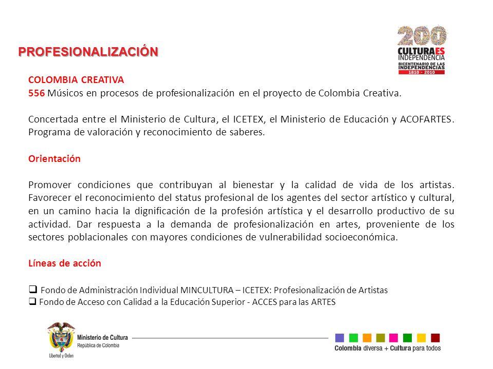 PROFESIONALIZACIÓN COLOMBIA CREATIVA