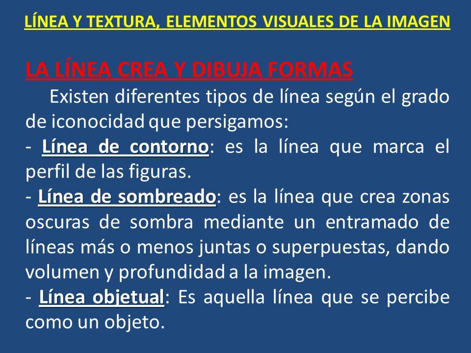 LÍNEA Y TEXTURA, ELEMENTOS VISUALES DE LA IMAGEN