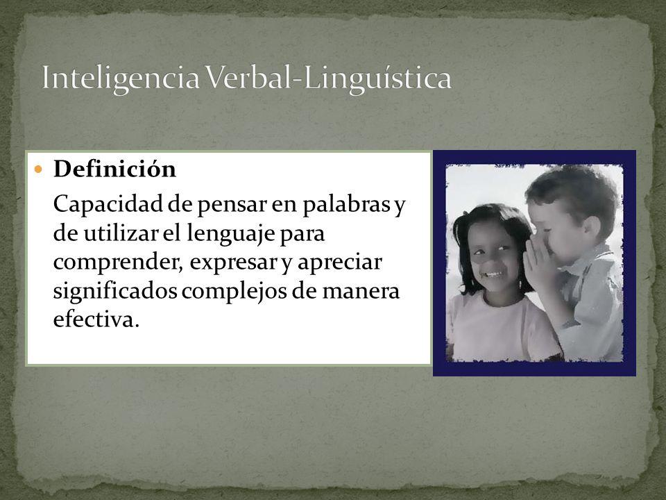 Inteligencia Verbal-Linguística