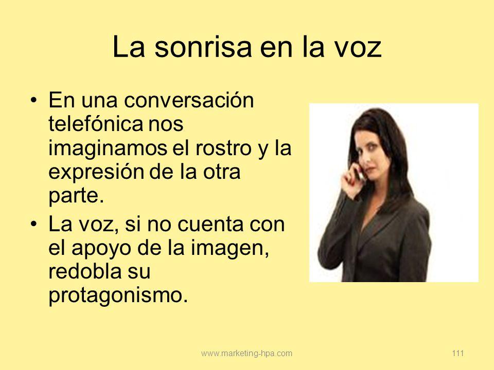La sonrisa en la voz En una conversación telefónica nos imaginamos el rostro y la expresión de la otra parte.